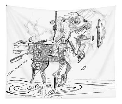 Merry-go-round Horse Tapestry