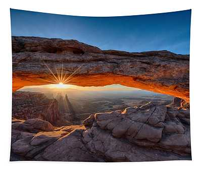 View Through The Mesa Arch At  Sunrise Tapestry