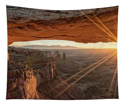 Mesa Arch Sunrise 4 - Canyonlands National Park - Moab Utah Tapestry