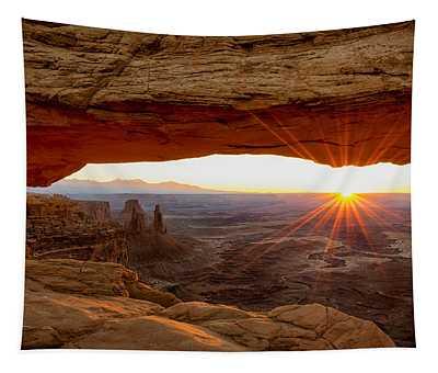 Mesa Arch Sunrise - Canyonlands National Park - Moab Utah Tapestry