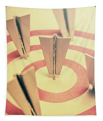 Metal Paper Planes In Target, Business Aims Tapestry