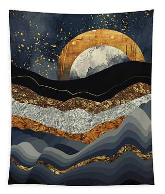 Metallic Mountains Tapestry