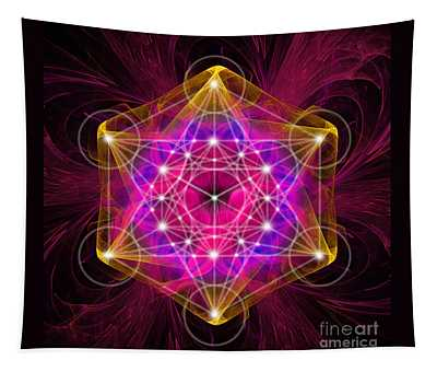Metatron's Cube With Flower Of Life Tapestry