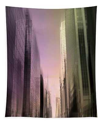 Metropolis Sunset Tapestry