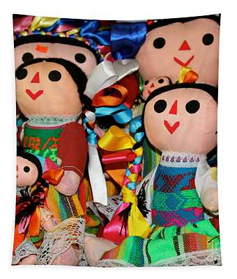 Mexican Dolls Tapestry