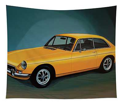 Mgb Gt 1966 Painting  Tapestry