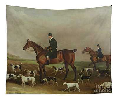 Michael Beverley With His Whipper In And Harriers Tapestry