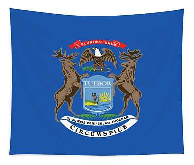 Michigan State Flag Tapestry