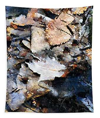Microcosm In An Autumn Pond Tapestry