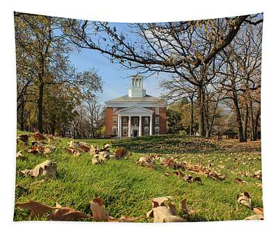 Middle College On An Autumn Day Tapestry