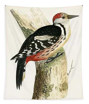 Middle Spotted Woodpecker Tapestry