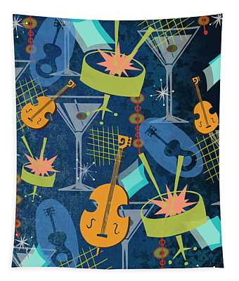 Midnight Party On Bourbon Street Tapestry