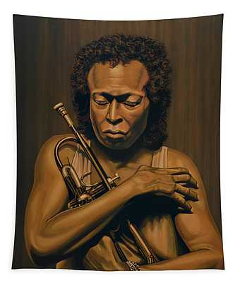 Miles Davis Painting Tapestry