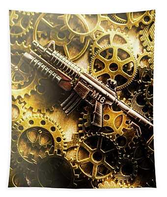 Military Mechanics Tapestry