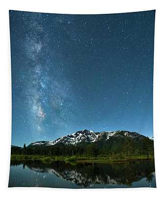Milkyway Over Tallac By Brad Scott Tapestry