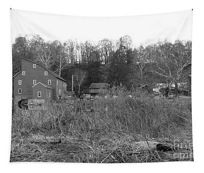 Mill At Clinton Among The Reeds Tapestry