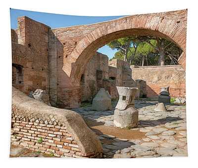 Mill-bakery At Ostia Antica Italy Tapestry