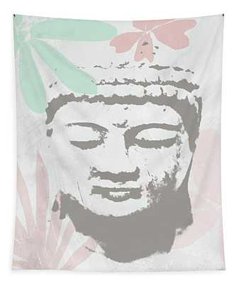 Millennial Buddha- Art By Linda Woods Tapestry
