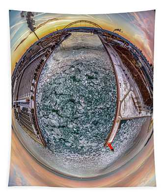 Milwaukee River Little Planet Tapestry