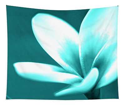 Mini Aqua Plumeria Tapestry