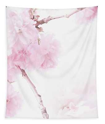 Minimalist Cherry Blossoms Tapestry