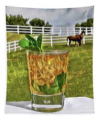 Mint Julep Kentucky Derby Tapestry