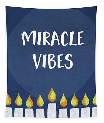 Miracle Vibes- Hanukkah Art By Linda Woods Tapestry