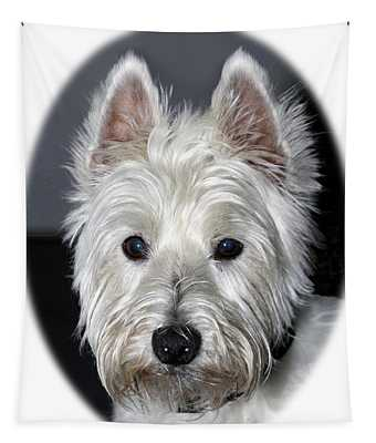 Mischievous Westie Dog Tapestry