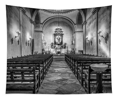 Mission Concepcion Chapel Bw Tapestry