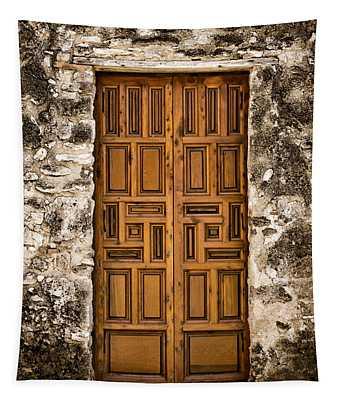 Mission Concepcion Door #3 Tapestry