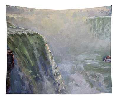 Mist At Horseshoe Falls  Tapestry