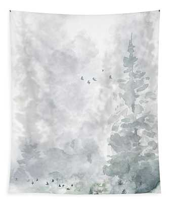 Mist On The Mountain  Tapestry