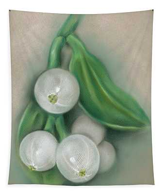 Mistletoe Berries Tapestry