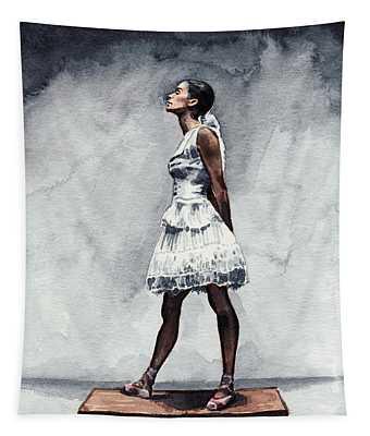 Misty Copeland Ballerina As The Little Dancer Tapestry