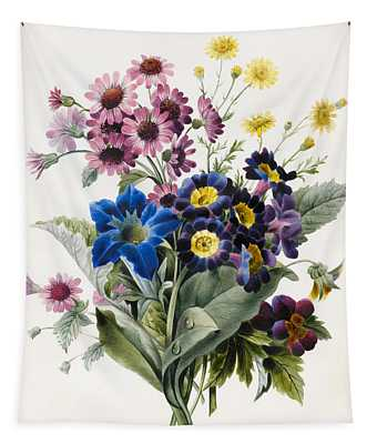 Mixed Flowers Tapestry
