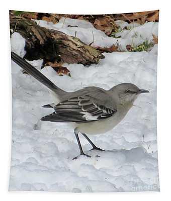 Mockingbird In The Snow Tapestry