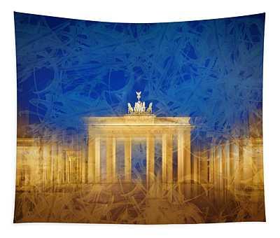 Modern Art Berlin Brandenburg Gate Tapestry