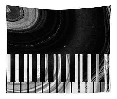 Modern Black And White Piano - Sharon Cummings Tapestry
