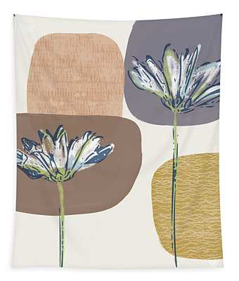Modern Fall Floral 1- Art By Linda Woods Tapestry