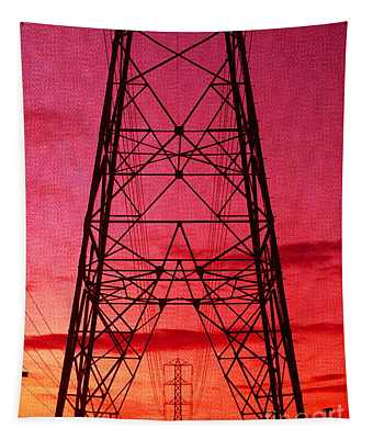 Modern Sunset Tapestry