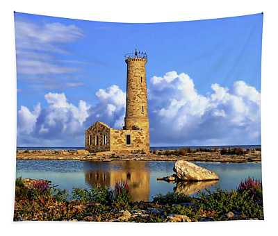 Mohawk Island Lighthouse Tapestry