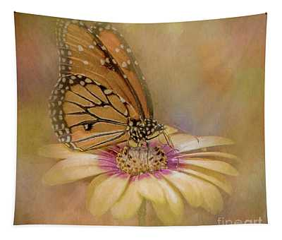 Monarch On A Daisy Mum Tapestry