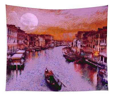 Monkey Painted Italy Again Tapestry