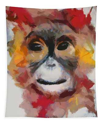 Monkey Splat Tapestry