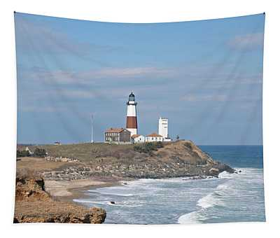 Montauk Lighthouse View From Camp Hero Tapestry