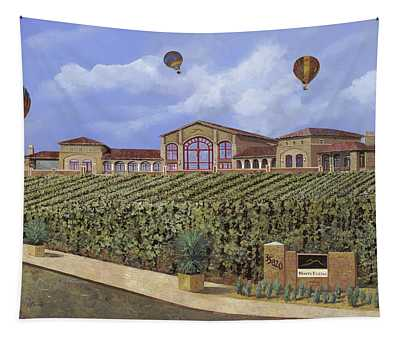 Monte De Oro And The Air Balloons Tapestry
