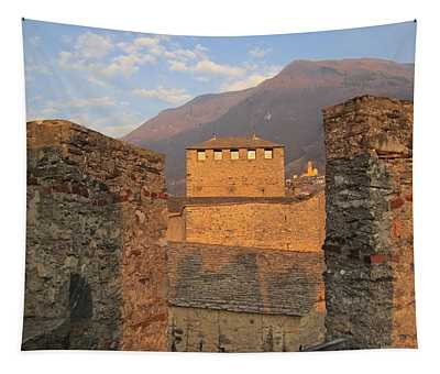 Tapestry featuring the photograph Montebello - Bellinzona, Switzerland by Travel Pics