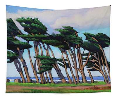 Monterey Cypress Row  Tapestry