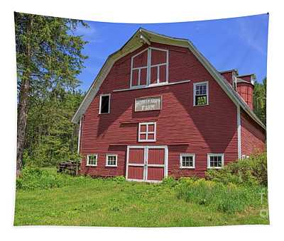Montford Farm Red Barn Orford New Hampshire Tapestry