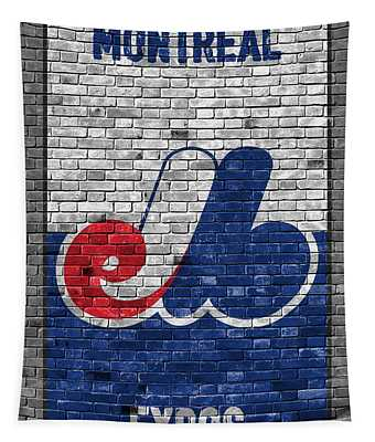 Montreal Expos Brick Wall Tapestry